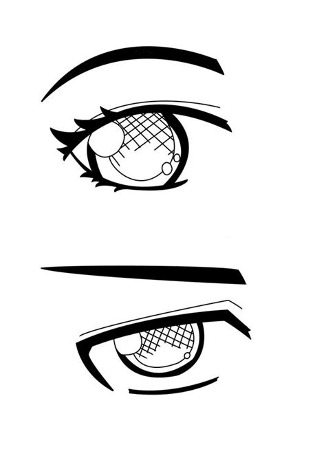 anime eyes lineart by countribabe on deviantart