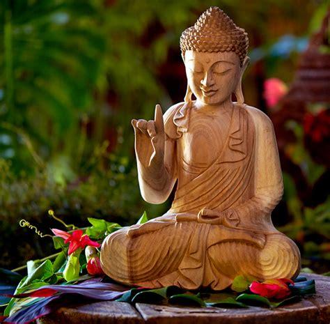 Buddhist Home Decor behind the design karana mudra wooden buddha discover