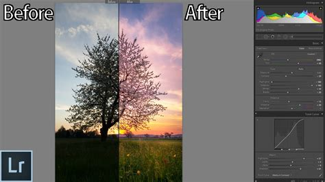 tutorial edit vscom how to edit sunset photos in lightroom from start to
