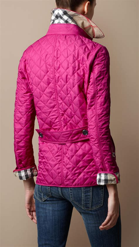 Quilted Clothing by Burberry Brit Cinched Waist Quilted Jacket In Pink Lyst