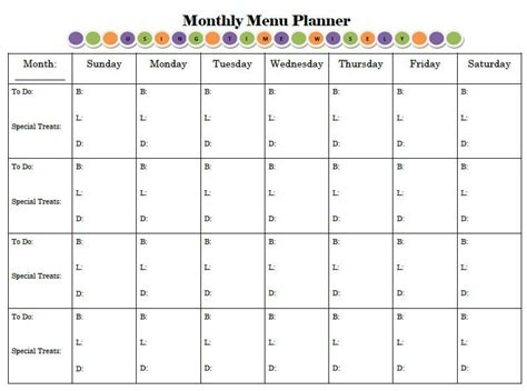 printable monthly family planner monthly menu planner like the quot to do quot column