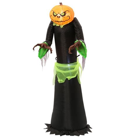 home accents holiday  ft inflatable pumpkin reaper
