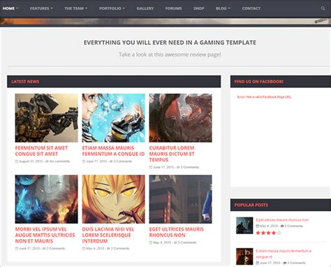bootstrap blank theme 16 gaming bootstrap themes templates free premium