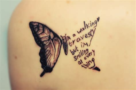 butterfly tattoo tumblr me paramore all time low inked ink brand new