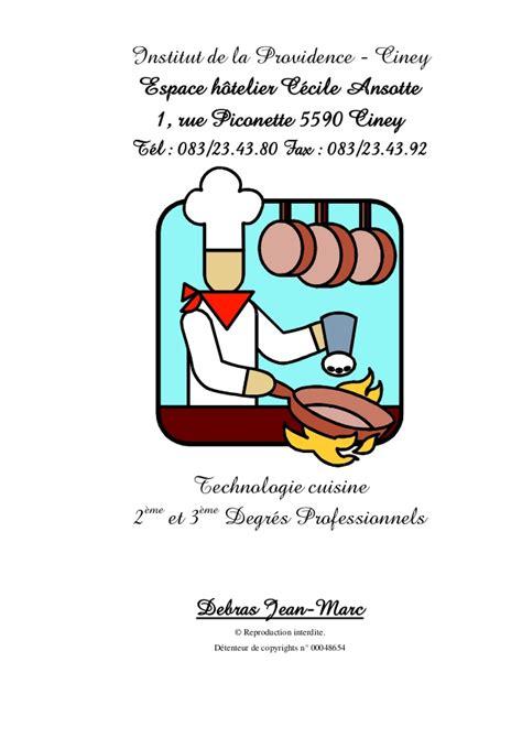 la cuisine de r馭駻ence pdf 63799851technologie cuisine termine avec couverture et