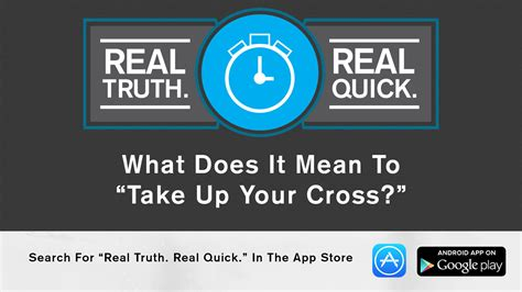 what does it to be a what does it to quot take up your cross quot real