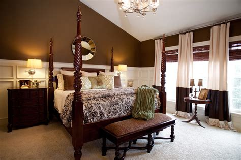 brown master bedroom master bedroom cream and brown traditional bedroom cincinnati by karen