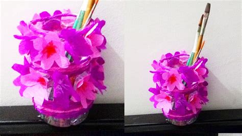 How To Make Waste Paper Flowers - how to make flower vase with waste paper howsto co