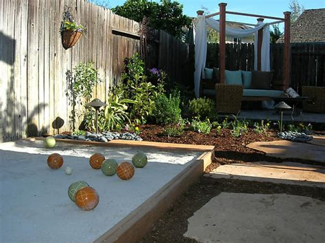 backyard bocce from unused backyard to entertainment oasis diy