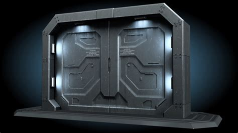 Sci Fi Door by Sci Fi Gate Door Model