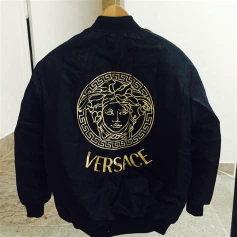 Handmade Mugs by Versace Bomber Jacket Men Size Small Brand New