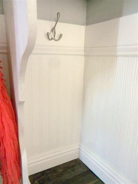 mudroom beadboard remodelaholic diy entryway mudroom with cubbies for