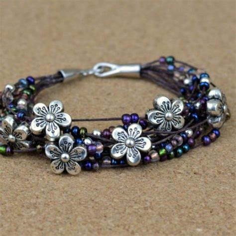 easy jewelry for beginners make this easy floral bracelet without jewelry tools just