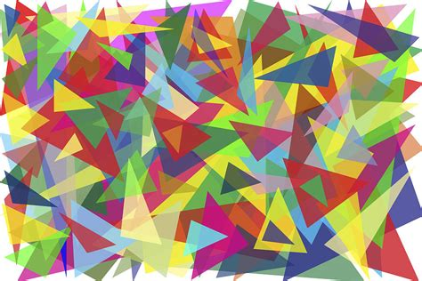 one digital colored one hundred multi colored triangles digital by