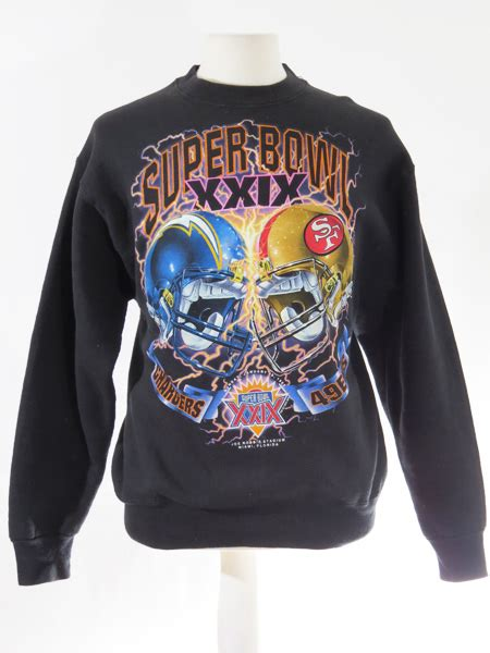 chargers 49ers bowl 49ers vs chargers 1995 bowl sweater 5 vintage