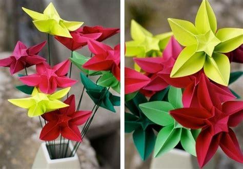 fiori con origami fiori di carta origami fiori di carta come fare gli