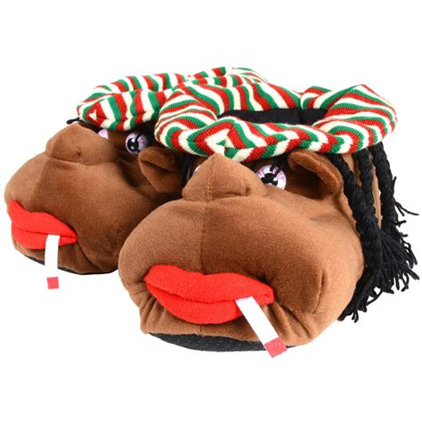 character house shoes cosy rasta man adult mens character plush novelty slippers with grip sole size uk 11