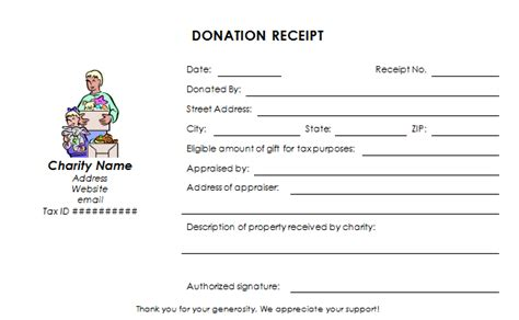 donation receipt template doc donation receipt template template business