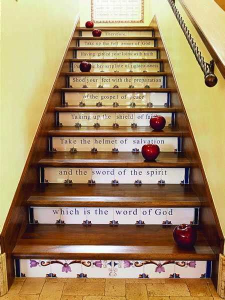 unusual interior decorating ideas  wooden stairs