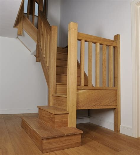 Banister Regulations Oak Staircase With Square Chunky Newels Spindles And