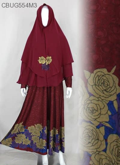 Gamis Bordir Batikunik Cbug554 gamis syari bordir retlesting ummina gamis muslim murah batikunik