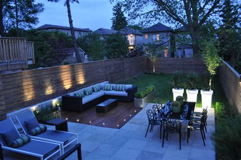 modern backyards modern toronto backyard