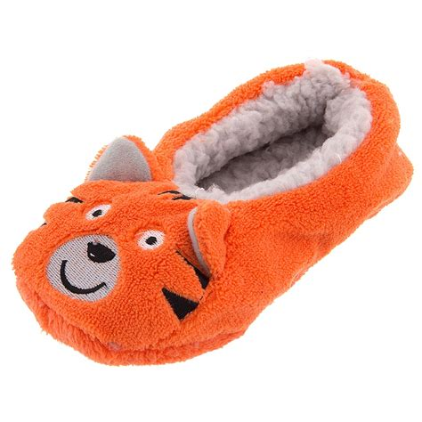 boys slippers gertex toddler boys orange tiger soft slippers boy s