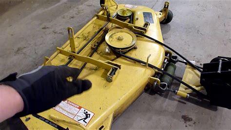 leveling john deere mower decks youtube