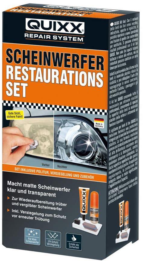 Scheinwerfer Politur Set Quixx quixx scheinwerfer restaurations set versiegelung