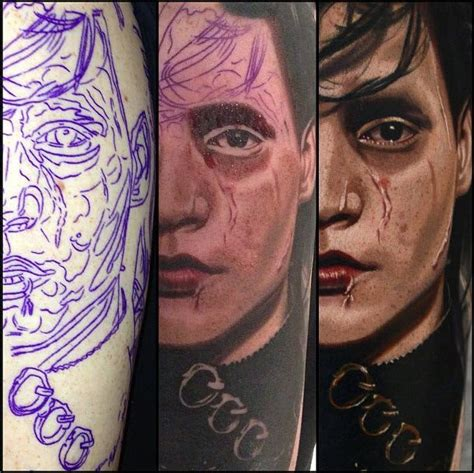 nikko hurtado tattoo edward scissorhands by nikko hurtado ones i like