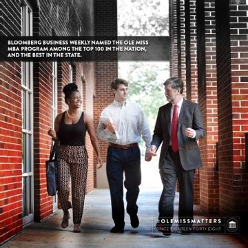 Ole Miss Mba Progrma by Ole Miss Mba Program Ranked By Businessweek Its Highest