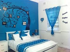 Blue Teenage Bedroom Ideas blue painting teenage girls bedroom decoration ideas
