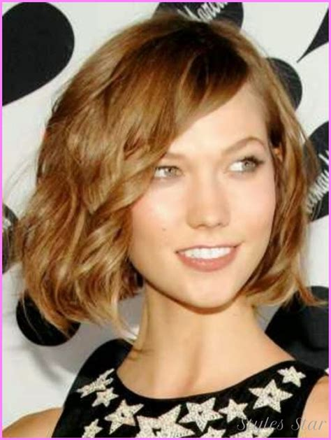 chin length hairstyles for thick wavy hair chin length wavy hairstyles stylesstar com