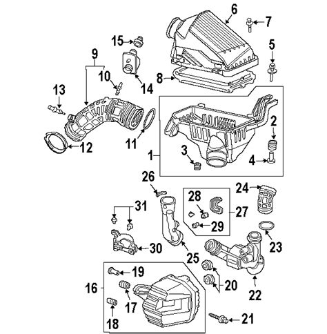 acura parts diagram parts 174 acura tsx air intake oem parts