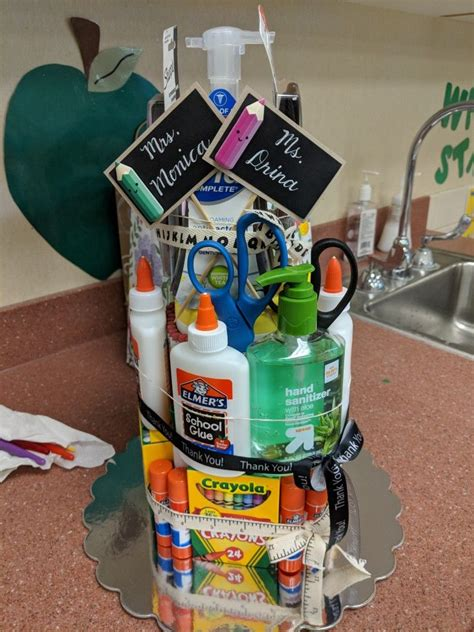 teacher appreciation gift   center  clorox disinfectant wipes  glue sticks