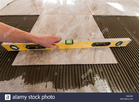 Tile Installation Tools Ceramic Tiles And Tools For Tiler Floor Tiles Installation Home Stock Photo Royalty Free