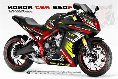 Honda Cbr 650 F Aufkleber by Sticker Kit For Cbr650f By Tt Bigbike Design