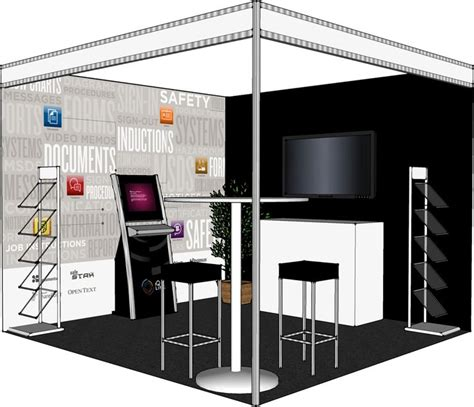 booth design mockup a 3d mockup of the booth we produced to help with layout