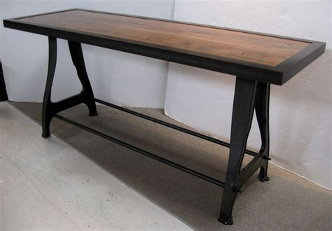 industrial sofa table quot industrial chic quot iron and wood console sofa table at