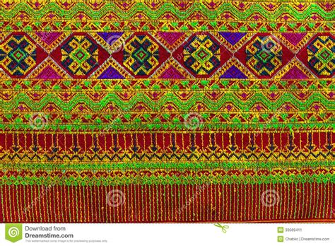woven pattern in fabric thailand pattern of woven fabrics hand stock image