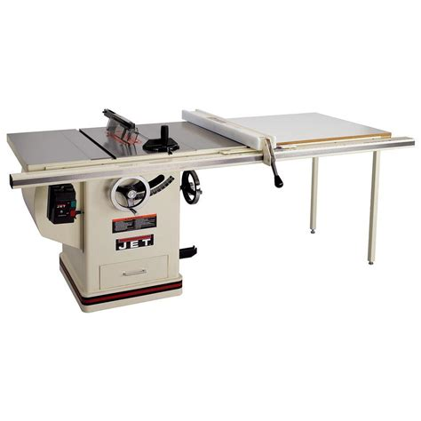 jet saw bench jet 5 hp 10 in deluxe xacta saw table saw with 50 in