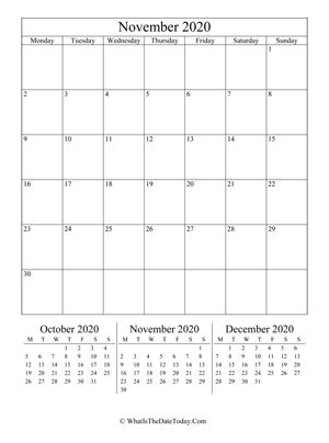fillable november calendar  whatisthedatetodaycom