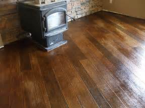 decorative concrete wood basement floor learn how to