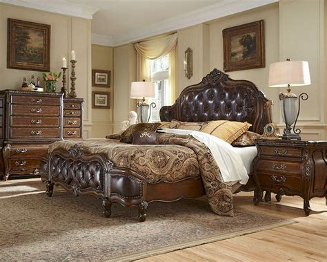 mansion bedroom furniture aico bedroom set w upholstered headboard lavelle melange