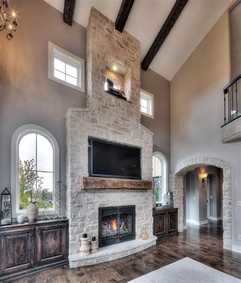 stone veneer fireplace ideas   warm   home
