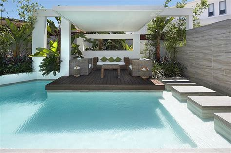 Backyard Pool Patio External Sitting Areas
