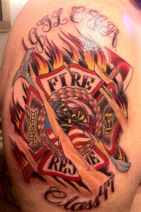 firefighter maltese cross tattoos fireman tattoos fractured maltese cross strike the box