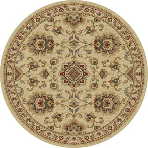 Tayse Rugs Sensation Ivory 5 Ft 3 In X 5 Ft 3 In Round 6 Area Rug