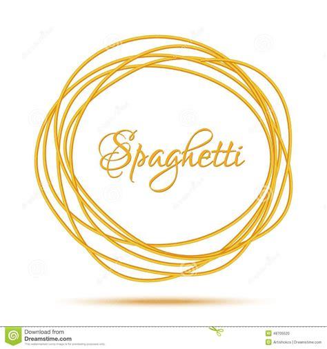 Realist Beige realistischer verdrehter spaghetti teigwaren kreis rahmen