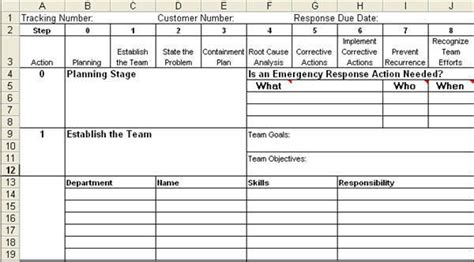 problem solving template excel 8d report template in excel eight disciplines report